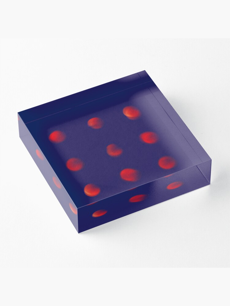 Alternate view of Total eclipse of the polka dot Acrylic Block