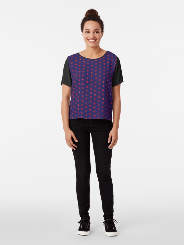 Alternate view of Total eclipse of the polka dot Chiffon Top