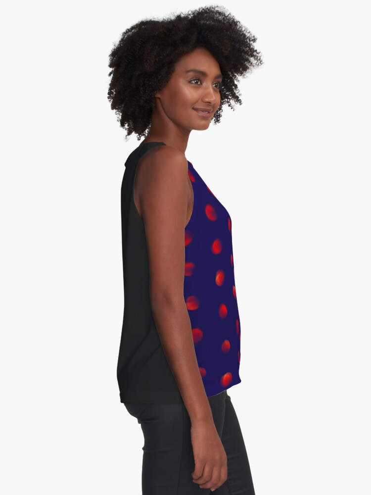 Alternate view of Total eclipse of the polka dot Sleeveless Top