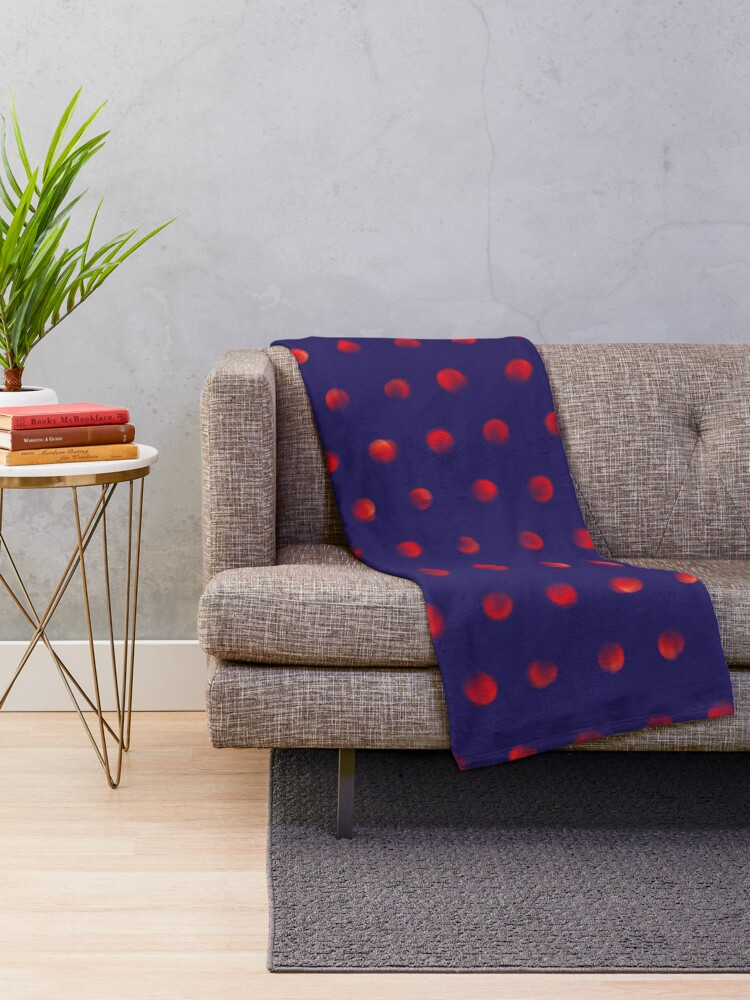 Alternate view of Total eclipse of the polka dot Throw Blanket
