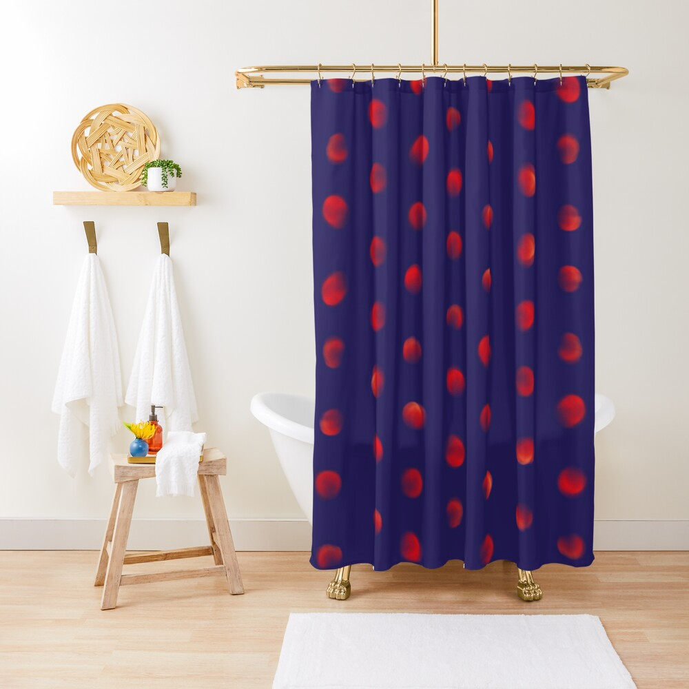 Total eclipse of the polka dot Shower Curtain
