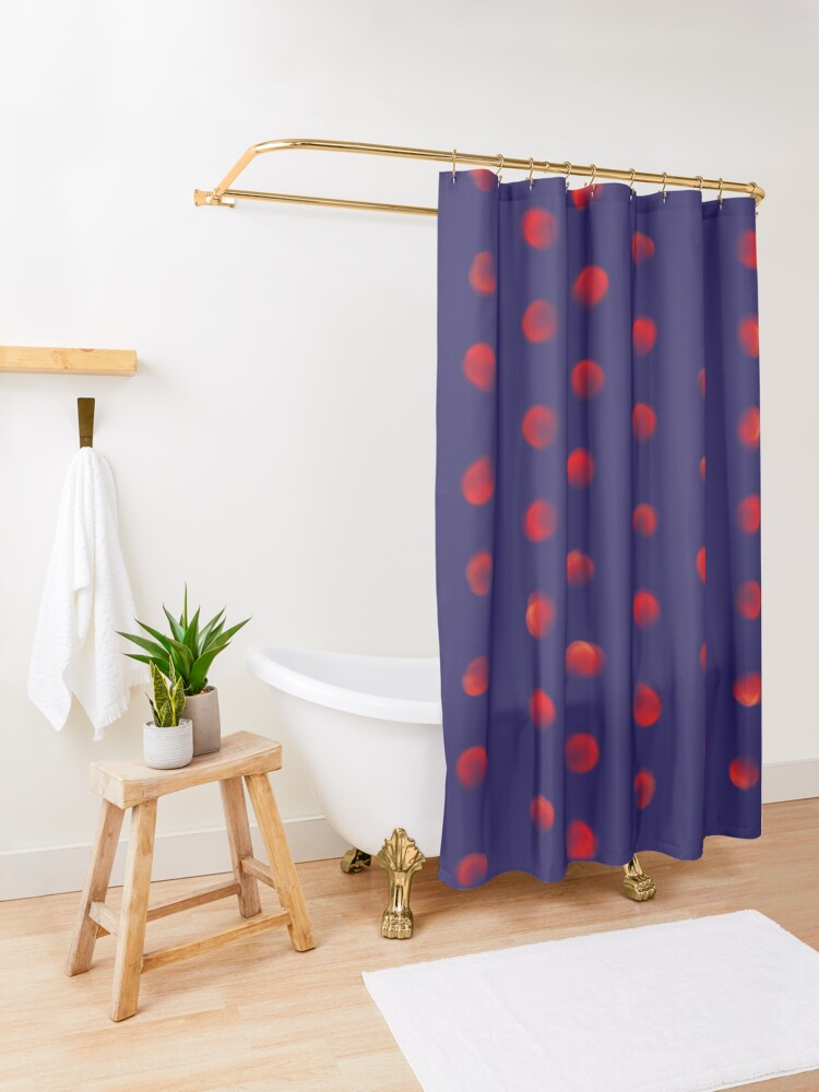 Alternate view of Total eclipse of the polka dot Shower Curtain