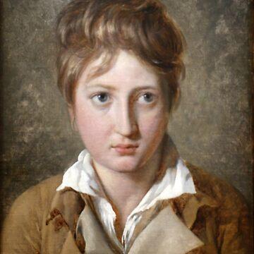 Jacques-Louis David - Portrait de jeune garçon by Geekimpact