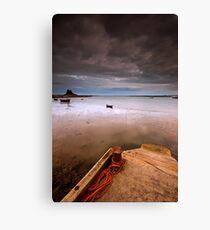 Gloomy Lindisfarne Canvas Print