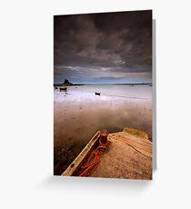 Gloomy Lindisfarne Greeting Card