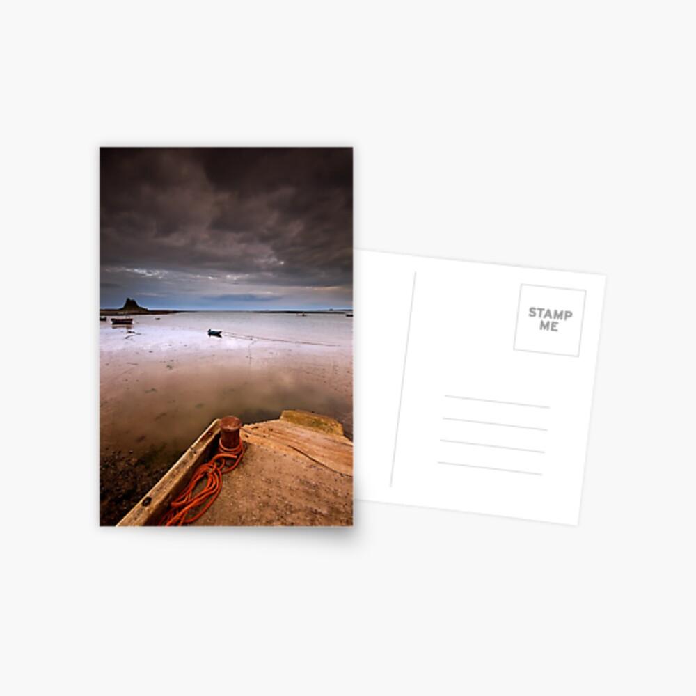 Gloomy Lindisfarne Postcard