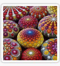 Warm Tone Mandala Stone Collection Sticker