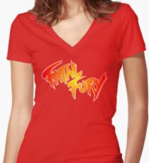 FATAL FURY Women's Fitted V-Neck T-Shirt