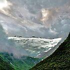 Ice clouds On the Glacier by Nancy Richard
