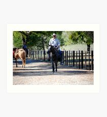 Back From the Trail Ride Art Print