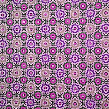 Marrakech Morocco Ceramic tile work pinks and purples by stuwdamdorp