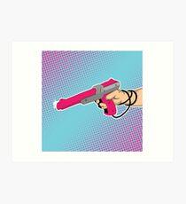 NES Laser Gun Nintendo Light Blaster Illustration Zapper Video Game Lazer Art Print