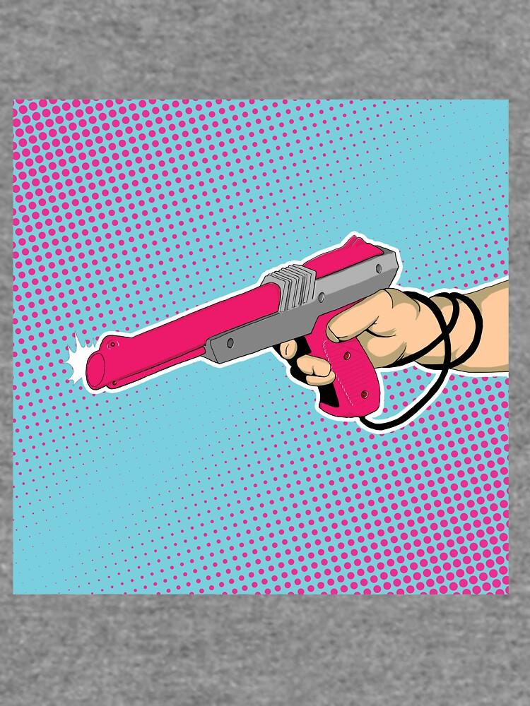 NES Laser Gun Nintendo Light Blaster Illustration Zapper Video Game Lazer by JustNukeIt