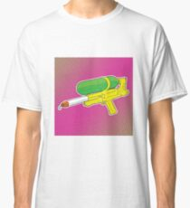 Super Soaker Water Gun 90s 80s Toy Squirt Pistol Drawing Classic T-Shirt