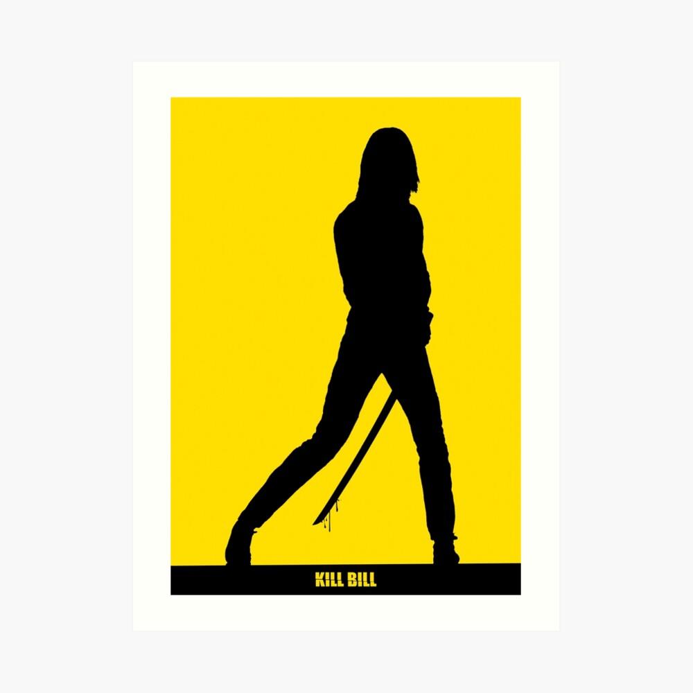 KILL BILL - Minimal Silhouette Poster Kunstdruck