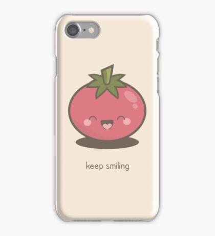 Keep Smiling Kawaii Tomato iPhone Case/Skin