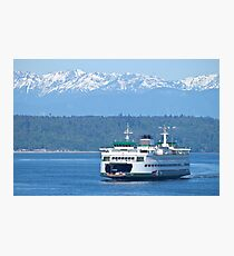 Edmonds Ferry on Puget Sound Photographic Print