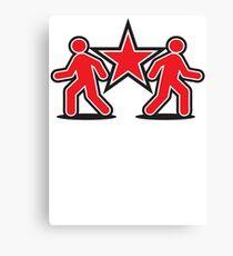 Dancing shuffle man RED STAR Canvas Print