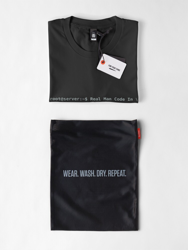 Alternate view of Real Man Code In Production Premium T-Shirt