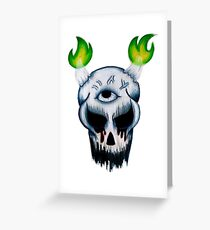 D.Skull Greeting Card