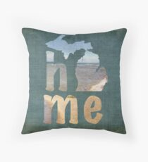 Michigan Home Throw Pillow