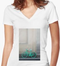 Green Cycle Women's Fitted V-Neck T-Shirt