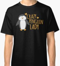 Crazy Penguin Lady  Classic T-Shirt
