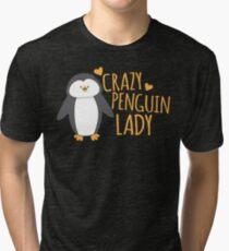 Crazy Penguin Lady  Tri-blend T-Shirt