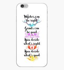 Vinilo o funda para iPhone En el bosque: tu decides