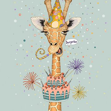 Sorpresa feliz cumpleaños jirafa de Ruta