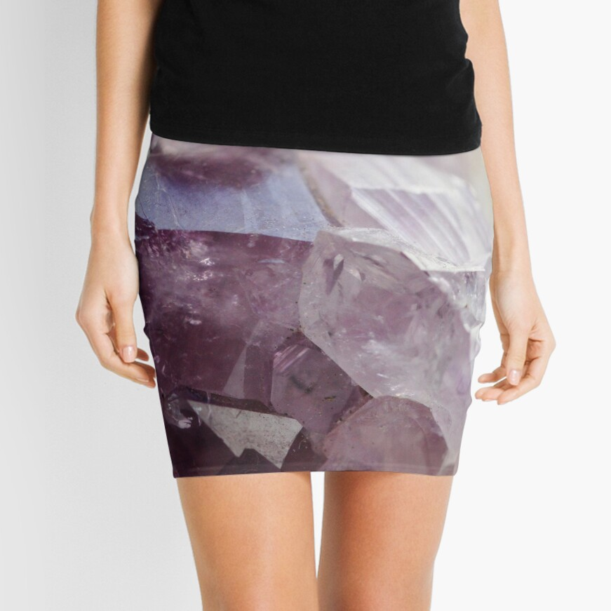 Amethyst crystal Mini Skirt