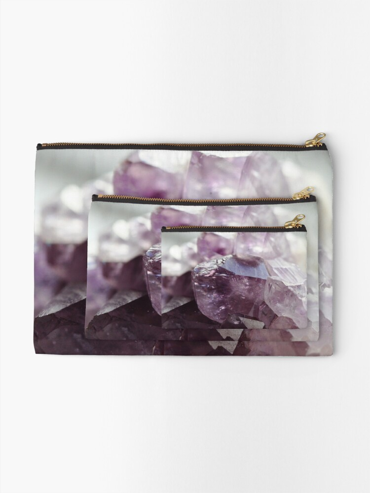 Alternate view of Amethyst crystal Zipper Pouch