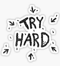 ↳ try hard ↵ Sticker
