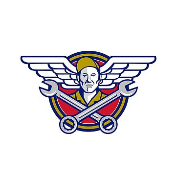 Crew Chief Crossed Wrench Army Wings Icon by patrimonio