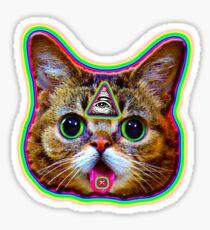 3 Eyed KiTty kAt Sticker