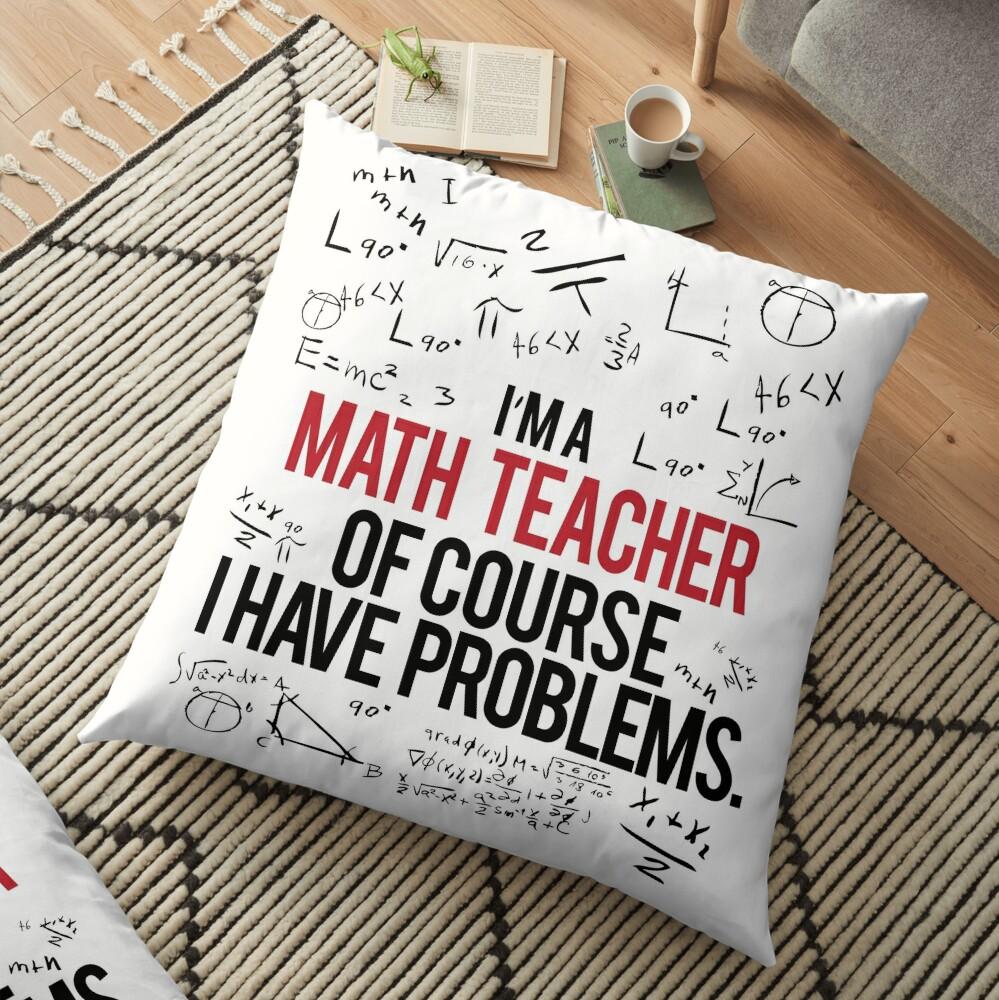 Mathe Lehrer mit Problemen Bodenkissen
