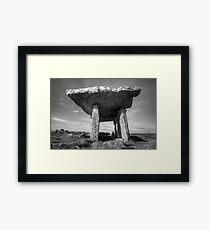 Poulnabrone Dolmen in Black and White Framed Print