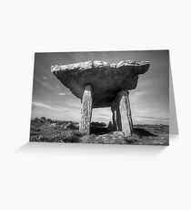 Poulnabrone Dolmen in Black and White Greeting Card