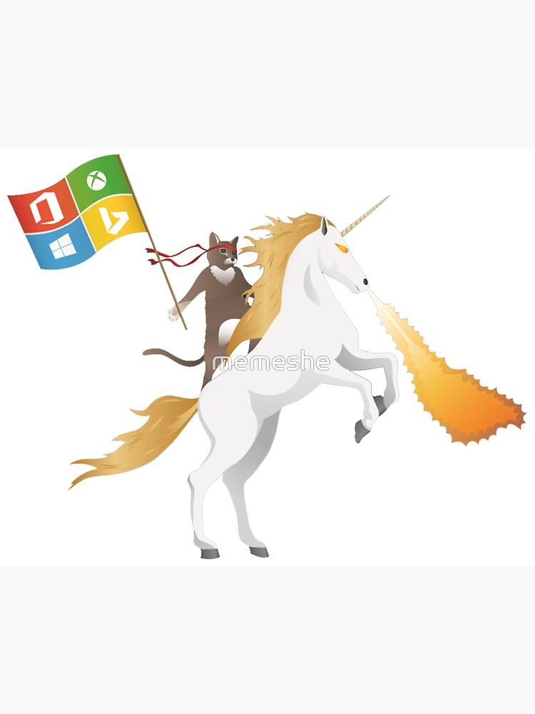 Ninja Cat Unicorn by memeshe