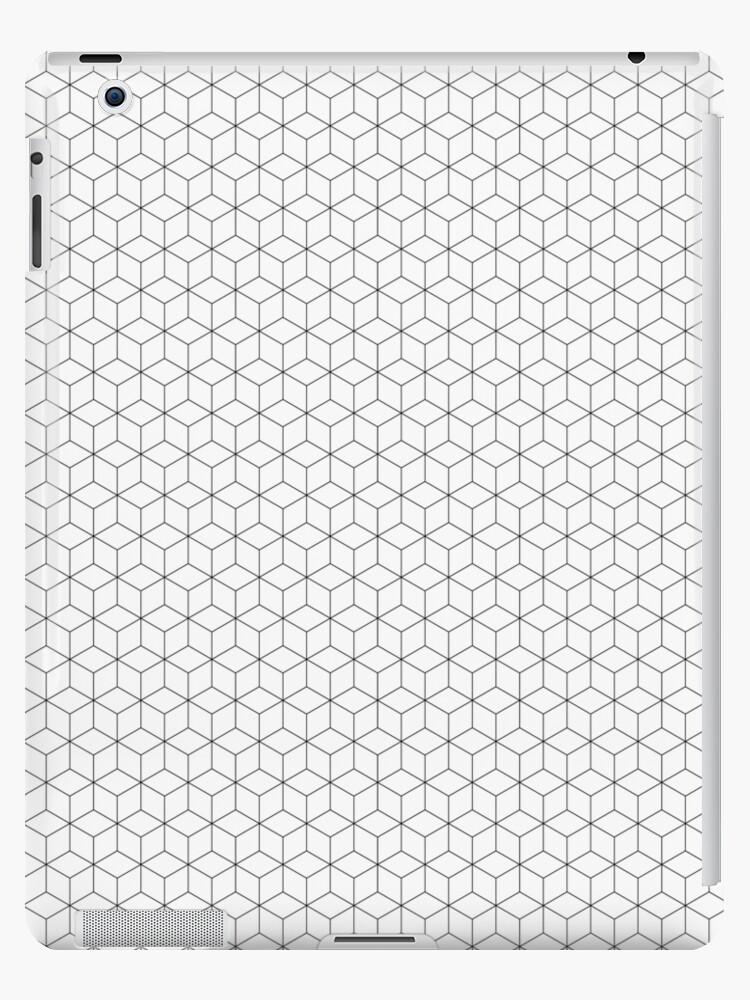 Minimales geometrisdches Würfelmuster mit schwarzen Linien von holgerbrandt