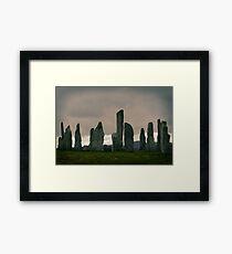 Dawn at Calanais Standing Stones Framed Print