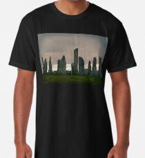 Dawn at Calanais Standing Stones Long T-Shirt