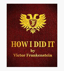 "Young Frankenstein ""How I did it"" Book Photographic Print"