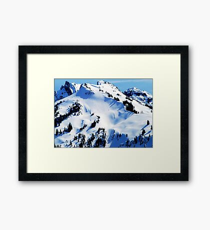 Back Country Downhill Skiers Framed Print