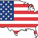 United States Flag Design by canossagraphics
