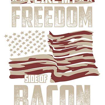 American Flag Gift Bacon Lover Freedom Banner Men Women by GabiBlaze