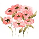 Abstract Poppies by Marie-Rooney