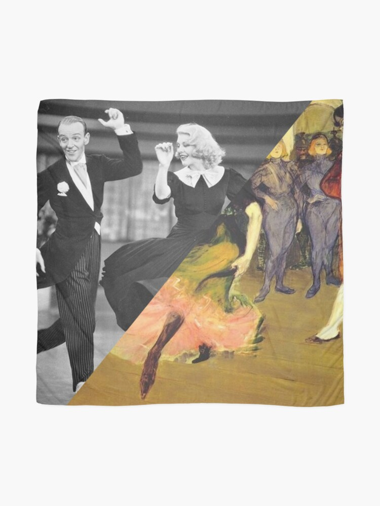 Alternate view of Toulose Lautrec's Dance at the Mouline Rouge & Ginger Rogers Scarf