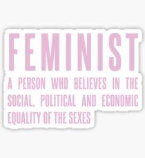 Pegatina *** impecable - feminista