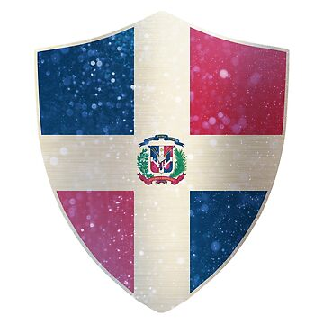 Dominican Flag Shield by ockshirts